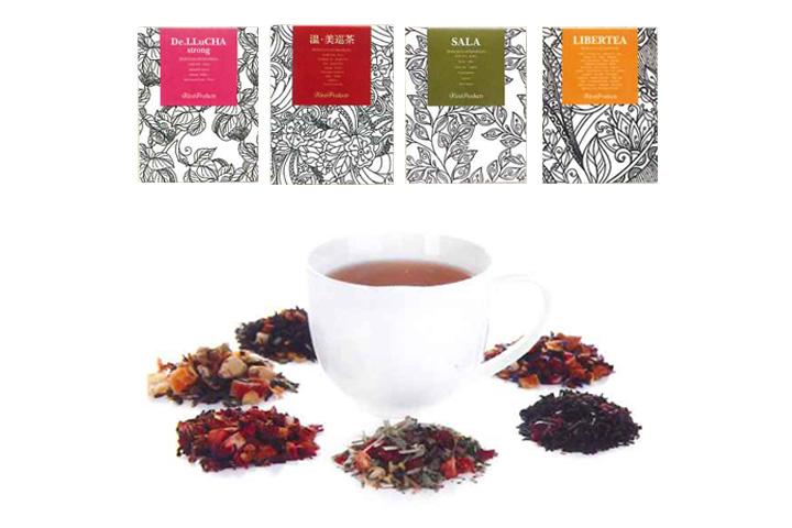 薬膳茶お試しセット4種 (各種5包入り) デ・ルー茶ストロング、温・美巡茶、リバティ、サラ