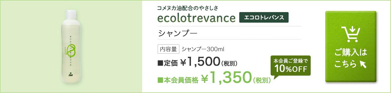 2019年 エコロトレバンス シャンプー300ml